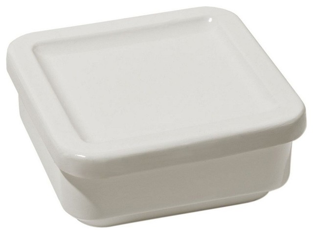 """Alessi """"Programma 8"""" Medium Square Container with Lid modern-food-containers-and-storage"""