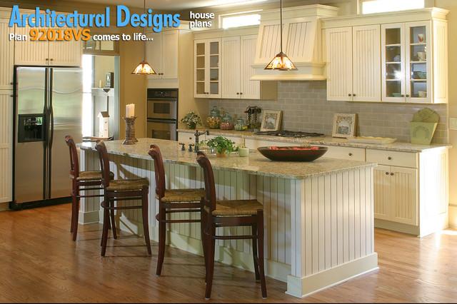 Architectural designs house plan 921018vs narrow lot for Award winning kitchen island designs