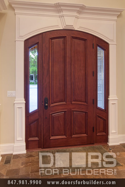 SOLID WOOD ENTRY DOORS-DOORS FOR BUILDERS, INC contemporary-front-doors