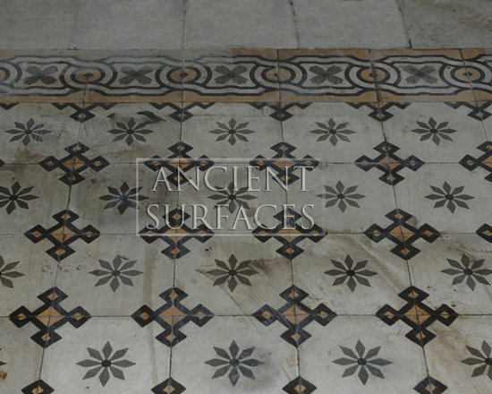 Cement squared tiles - Encaustic tiles - Originally decorative tiles, known as encaustic tiles, were prepared from a pigmented clay base then heated or fired in a kiln. Tiles made by this method were very popular and can still be seen widely in Europe, Latin America and the US.