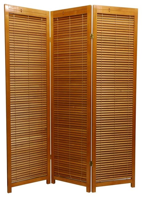 Honey scandinavian spruce multi panel privacy screen for Garden dividers screens