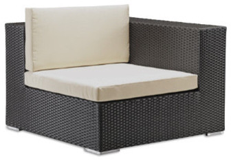 Outdoor Corner Chair with Cushions contemporary-outdoor-cushions-and-pillows