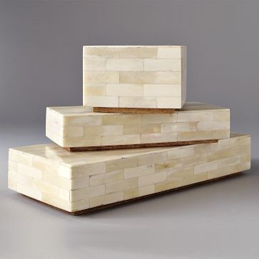 Bone Boxes | west elm contemporary storage and organization