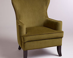 wing backed chair  chairs
