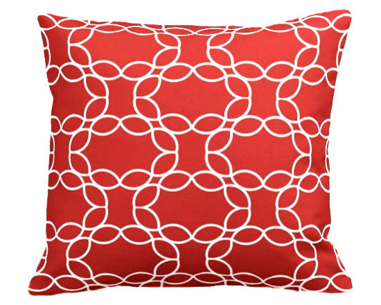 PURE Inspired Design - Petal Ring Organic Pillow Cover, Orange/Natural, 18 X 12 - Collection:  PURE Beach