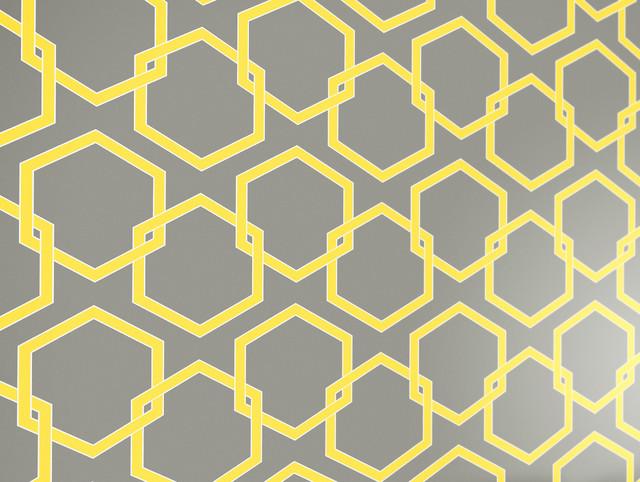 Honeycomb Self Adhesive Removable Wallpaper Citron