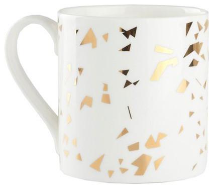 Fragment Mug, Gold modern-mugs