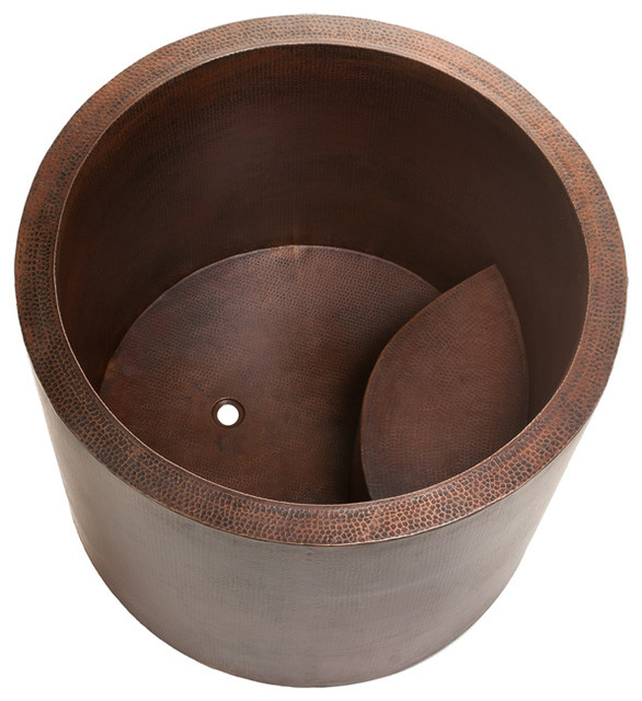 japanese style soaking copper bath tub asian bathtubs other