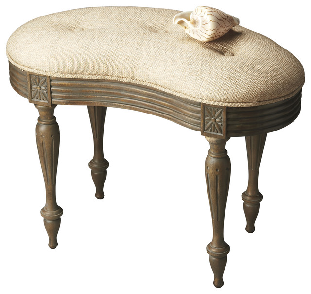 Masterpiece Toasted Barley 20 Vanity Stool Shabby Chic