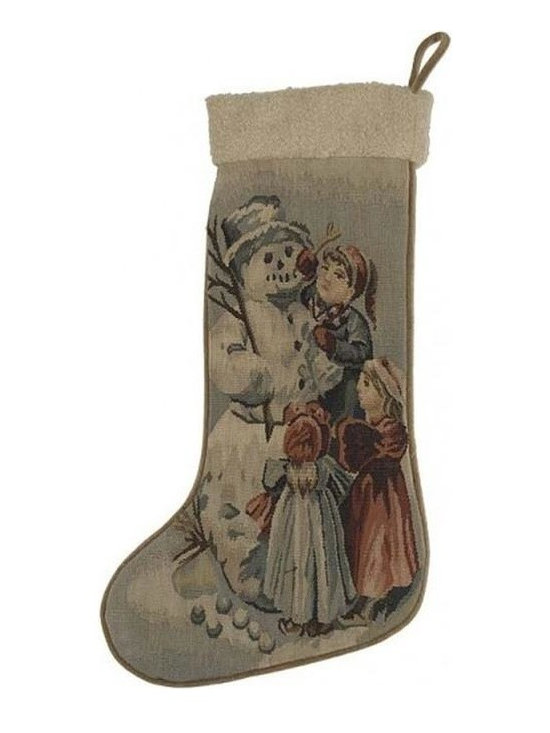 """EuroLux Home - New 13.5""""x20"""" Christmas Stocking Snow - Product Details"""