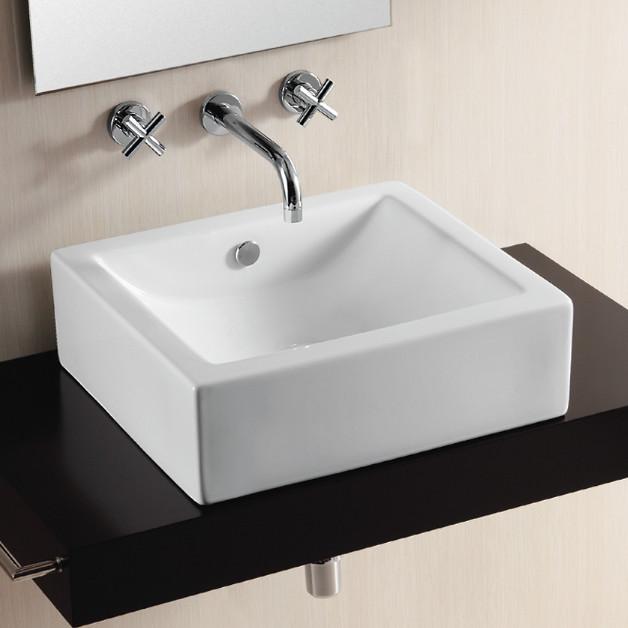 Square Bathroom Sinks : ... Modern Square Ceramic Vessel Sink by Caracalla modern-bathroom-sinks