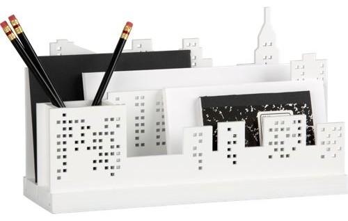 skyline desk organizer - Modern - Desks And Hutches - by CB2