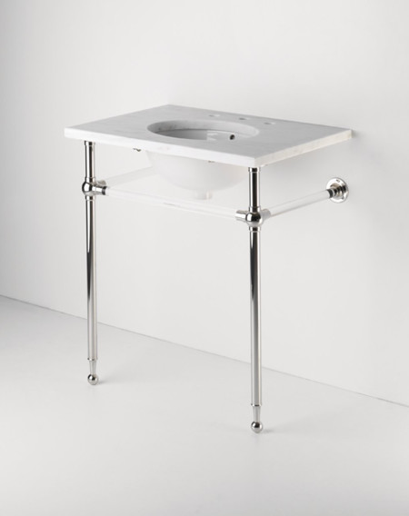 Crystal Metal Round Two Leg Single Washstand - traditional ...