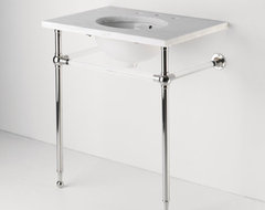 Crystal Metal Round Two Leg Single Washstand traditional-bathroom-vanities-and-sink-consoles