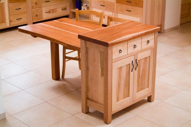 Island cabinet and dining table combo eclectic for Kitchen island dining table