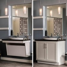 Aristokraft Adaptable Wall Vanity Sink Base Bathroom