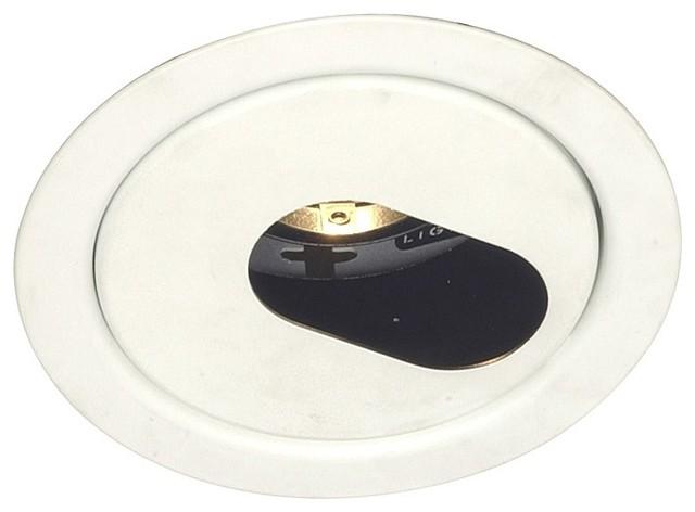 "Lightolier 4"" Low Voltage Slot Aperture Recessed Light Trim - Modern - Recessed Trims"