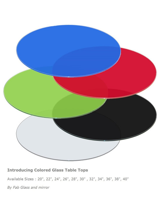 Colored Glass Table Tops by Fab Glass and Mirror -
