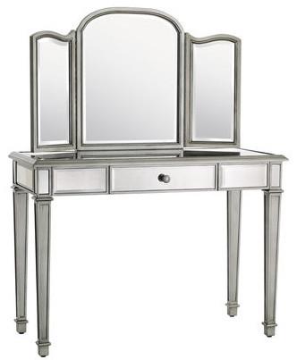 hayworth mirror vanity traditional bedroom makeup