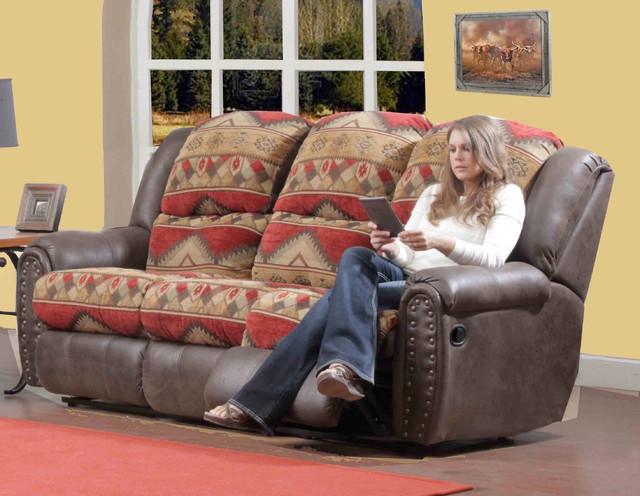 Yuma Rustic Lodge Reclining Sofa Sofas By Modern