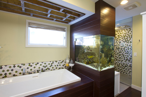 contemporary bathroom Fabulous Fish Tanks