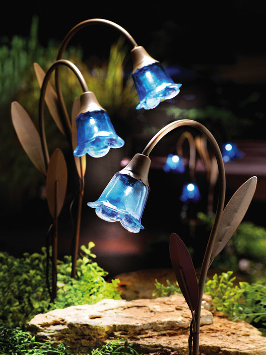 Blue Bell Solar Lawn Stakes, Set of 3 -