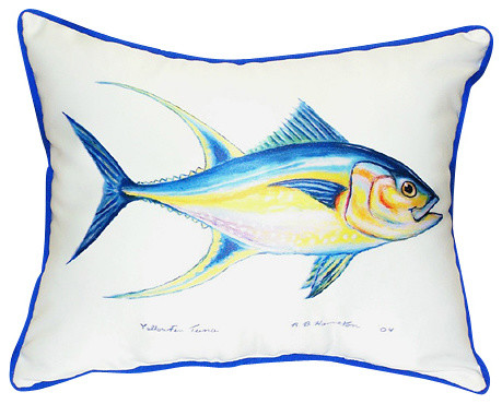 Betsy Drake Tuna Pillow- Indoor/Outdoor - outdoor pillows - by
