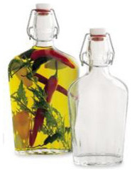 Hermetic Glass Flasks traditional food containers and storage