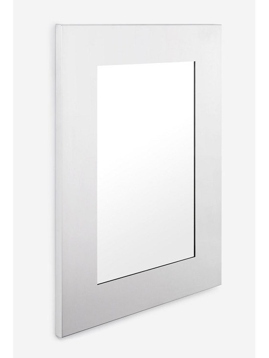 """Blomus - Muro Mirror - 23"""" x 33"""" - Matte finished stainless steel framed mirror.  Total Size: 23"""" x 33"""" Wide of Stainless Steel Border: 4.75"""" inches"""