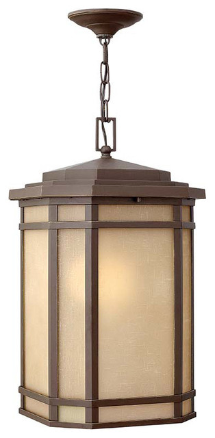 Hinkley Lighting 1272OZ-GU24 Cherry Creek Bronze Outdoor Lantern craftsman-outdoor-hanging-lights