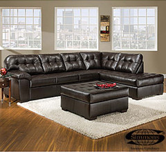 View Simmons Faux Leather Manhattan 2 Piece Sectional