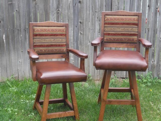 Breckenridge swivel bar stools rustic bar stools and counter stools denver by mountain - Barstools denver ...