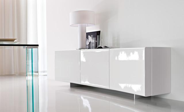 Cattelan italia sideboard bay gloss white 4 - Mobili buffet moderni ...
