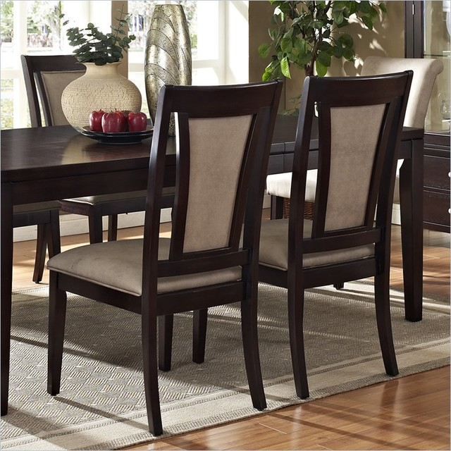 Steve Silver Company Wilson Vinyl Dining Side Chair in Espresso contemporary-dining-chairs