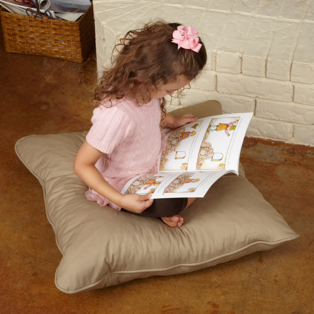 Isabella 28-inch Floor Pillow contemporary-floor-pillows-and-poufs