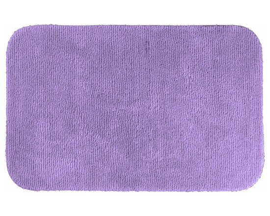 "Sands Rug - Cheltenham Purple Washable Bath Rug (2'6"" x 4'2"") - Add a layer of plush comfort and safety with the inviting Cheltenham bath and spa rug collection. Each piece, whether a bath runner, bath mat or contoured rug, is created from soft, durable, machine-washable nylon. Each floor piece is backed with skid-resistant latex for safety."