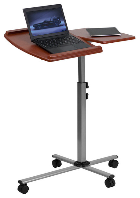Flash Furniture Angle and Height Adjustable Mobile Laptop ...