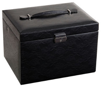 Delphine Drop Front Locking Jewelry Box - Traditional - Storage Bins And Boxes - by Grandin Road