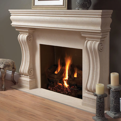 Aberdeen Stone Fireplace Mantel Traditional Indoor