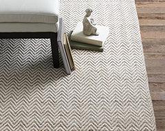 Jute Chenille Herringbone Rug, Natural Slate modern-rugs