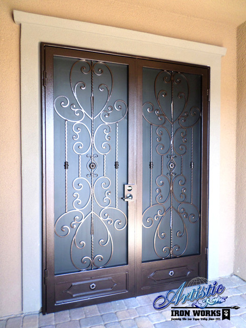 Wrought Iron Security Doors Traditional Front Doors