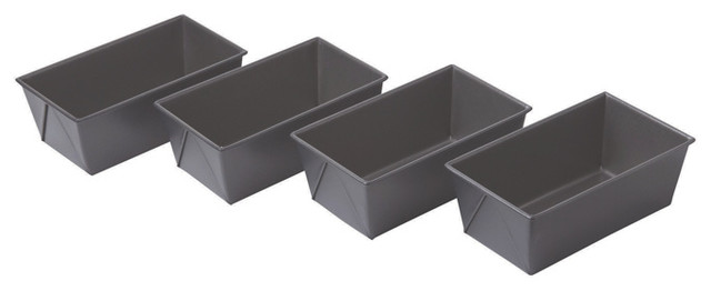 Chicago Metallic Non-Stick Mini Loaf Pans Set of 4 contemporary-bakeware-sets