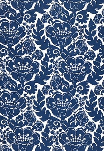 Louis Nui Print Fabric, Laguna traditional-outdoor-fabric
