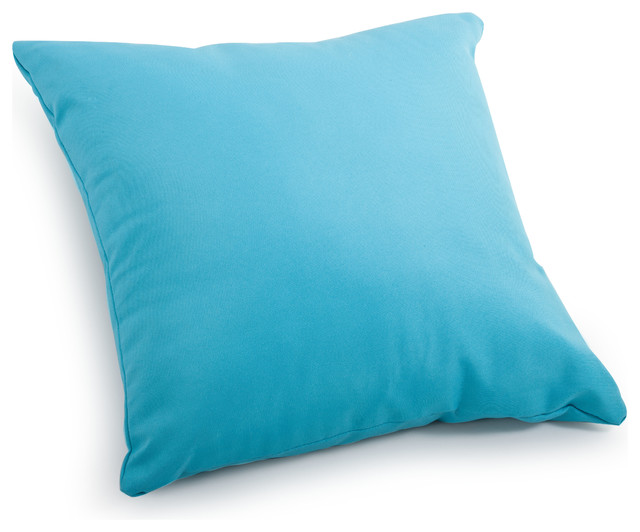 Large Decorative Outdoor Pillows : Laguna Large Pillow Sky Blue - Tropical - Outdoor Cushions And Pillows - by Zuo Modern Contemporary