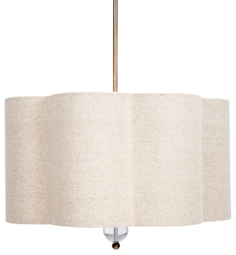 Scalloped Hanging Shade Chandelier traditional-chandeliers