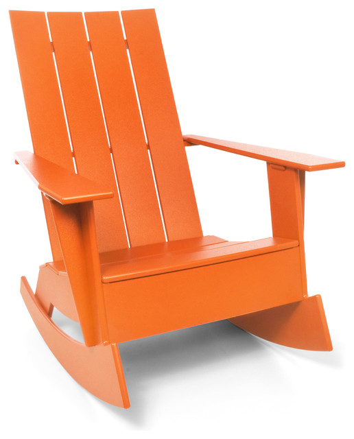 ... Rocker, Sunset Orange - Contemporary - Outdoor Rocking Chairs - by