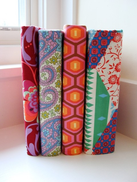 Custom 3 Ring Binder Fabric Slipcover eclectic-desk-accessories