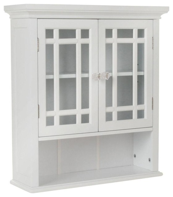 Elegant Home Fashions Cabinets Albion 22 in. W MDF White Wall Cabinet HD17473 - Contemporary ...