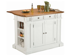 Home Styles Kitchen Island in Rich Multi Step White traditional-kitchen-islands-and-kitchen-carts