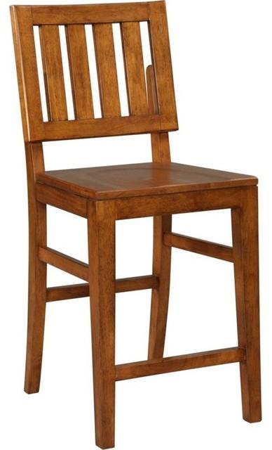 Broyhill Furniture - Laurel Hills Wood Seat Counter Stool - 4812-591 - Traditional - Bar Stools ...